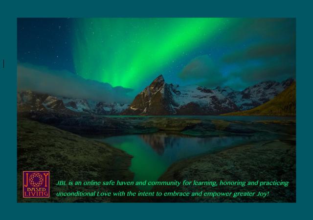 Joy-Based Living description with Northern Lights