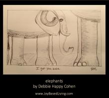elephants by debbie happy cohen for joy-based living blog post co-narcissists