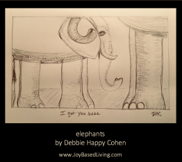 elephants by debbie happy cohen for joy-based living blog post co-narcissists