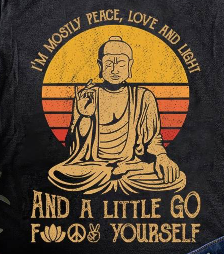 im mostly peace love and light and a little go f yourself - tshirt