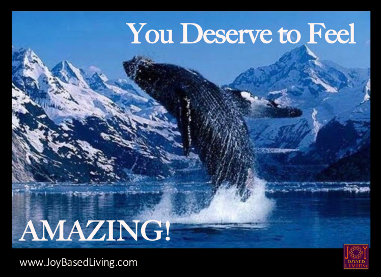 You deserve to feel amazing whale doing a backflip