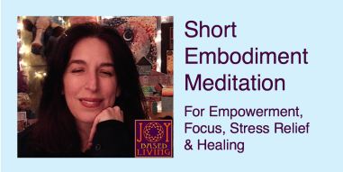 Short Embodiment Meditation For Empowerment Focus Stress-Relief and Healing - youtube thumbnail -
