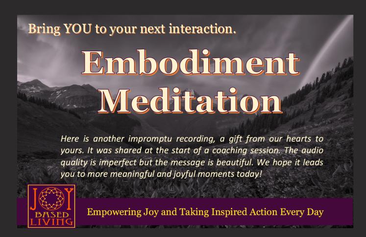 Embodiment Meditation May 17 2019 - Bridges - by Debbie Happy Cohen