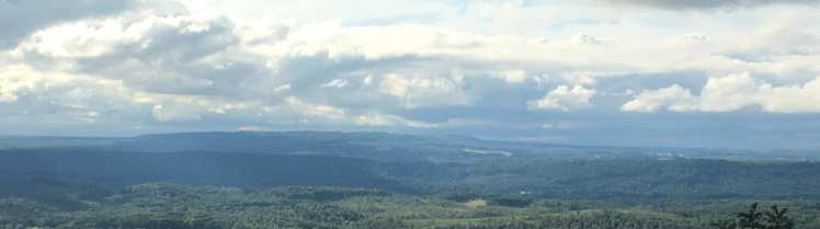 panoramic view of valley from Lookout Mountain